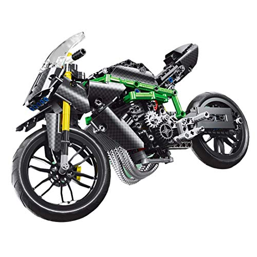 QIXIAOCYB XSuper Technical Racing Motorbike Building Blocks 639+Pcs Off-road Mountain Motorcycle Model Motorbike DIY Bricks Toy for Kids Adults,