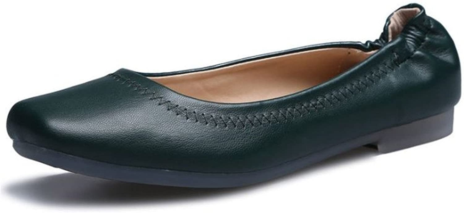 Hanglin Trade Women's Classic Pointy Toe Ballet Flat shoes Soft Casual Dressy Slip on Loafer Flats