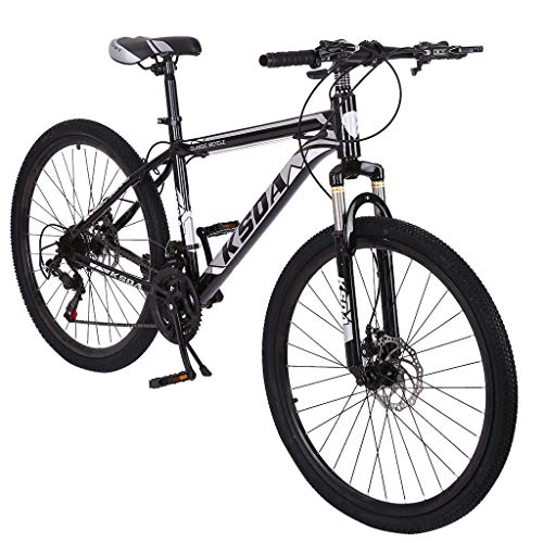QIUSge Outdoor Road Bikes ,Junior Aluminum Full 26 Inch Mountain Bike, Stone ​​Bicycle Height Adjustment (Black)