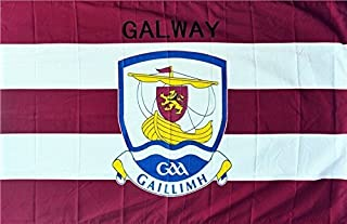 OFFICIAL IRELAND GAA crest COUNTY FLAG GALWAY 152cm x91cm very limited stock
