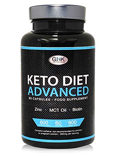 Keto Diet Pills - 1 Month Supply UK Manufactured - High MCT Oil, Biotin & Green Tea Content - Ketogenic Weight Loss Supplement Slimming Pills