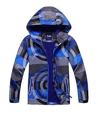 M2C Boys Hooded Full-Zip Windproof Fleece Lined Active Jacket 6/7 Blue