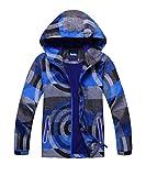 M2C Boys Hooded Full-Zip Windproof Fleece Lined Active Jacket 7/8 Blue