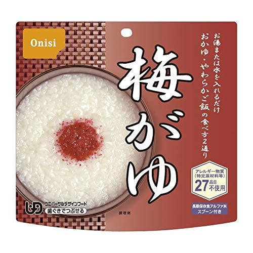 尾西食品 アルファ米 梅がゆ 1食分 KF 901KF 【非常食 保存食 長期保存 ごはん ご飯】