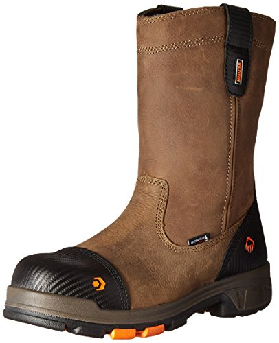 WOLVERINE mens Blade Lx Waterproof 10' Comp Toe Work Boot, Brown, 10.5 US