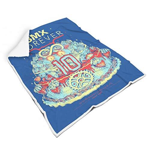 NC83 Deken BMX Forever Schedel Cake Patroon Print Universal Throws Robe - angstig vrije tijd dragen past bank te gebruiken