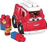 Mega Bloks First Builders Camion de Pompiers, jeu de voiture et de blocs de construction, 6 pièces, jouet pour bébé et enfant de 1 à 5 ans, GCX09