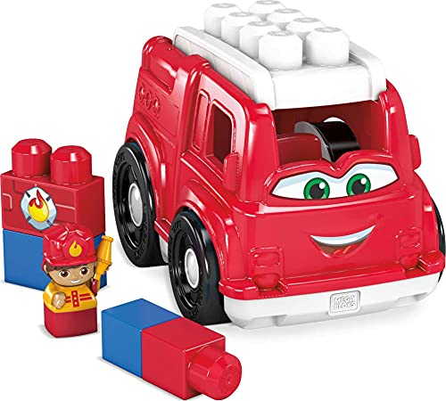 Mega Bloks First Builders Freddy Fire Truck GCX09, Building Toys for Toddlers (6 Pieces)