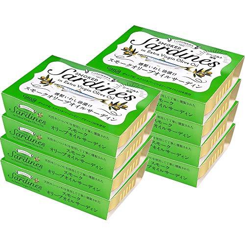 スマートマットライト TOMINAGA スモークオリーブオイルサーディン [ 燻製いわし油漬け ラトビア産 ] 100g ×8個