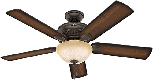 high quality Hunter Matheston Indoor / Outdoor Ceiling Fan with Light and popular popular Pull Chain Control online sale