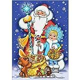 Baslinze Weihnachten Geschenk Weihnachtsbogen Puppenhaus Puppen Holz Stickerei GemäLde DIY Diamant...
