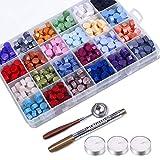 Sello Lacre Kit, 600pcs Cuentas de Cera de Sellado 24 colores Con caja de almacenamiento, ...