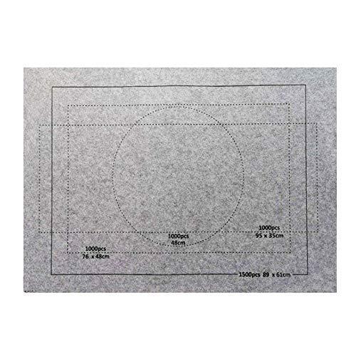 Celawork Puzzlematte für BIS 1500 2000 3000 Puzzle Teile Puzzle Pad Puzzleunterlage Puzzle Rollmatte Rollen Sie Puzzlematten für Puzzles auf (Nur Puzzlemat Grau, 1500PCS)