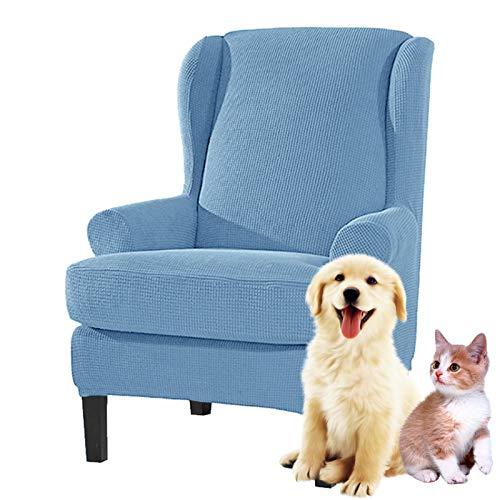 Stootrel Ohrensessel Sofa überzug Sesselbezug Sesselschoner Sessel-Überwürfe 1Sitzer Waschbar Elastisch Stretch Sesselhusse Bezug (Farbe : Color15)