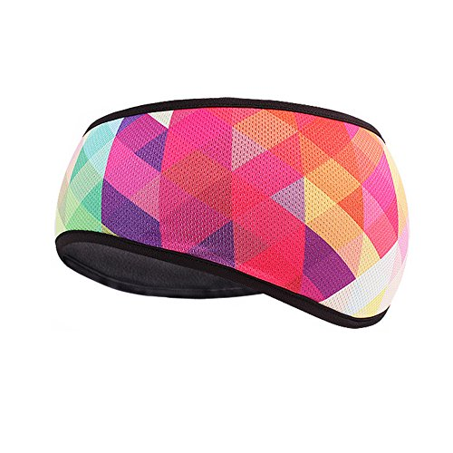 TClian Damen Ohrenwärmer Winter Stirnband Polar Fleece Ski Ohrenwärmer Stretch Haarband für Laufen Yoga Skifahren & Alltag - Pink - Einheitsgröße