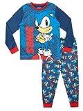 Sonic The Hedgehog Pijamas de Manga Larga para niños Azul 8-9 Años