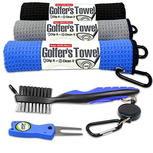 Fireball Golf 5-Piece Deluxe Golf Towel Gift Accessories Set