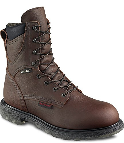 """Red Wing Mens 8"""" Waterproof Insulated Leather Boot 1412-7E Brown"""