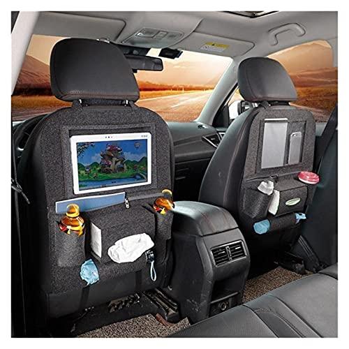 ZHENGYI NUEVO Coche Estilizador de asiento Organizador Tablet Soporte Multifunción Organizador de automóviles Almacenamiento Bolsa de almacenamiento Titular de la taza Organizador de tejidos de automó