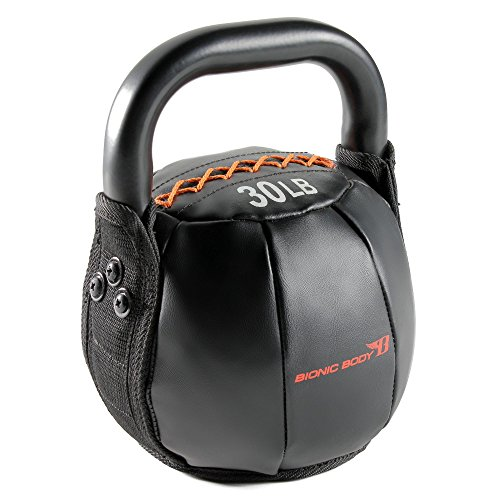 Bionic Body Soft Kettlebell with Handle - 10, 15, 20, 25, 30, 35, 40 lb. for Weightlifting, Conditioning, Strength and core Training