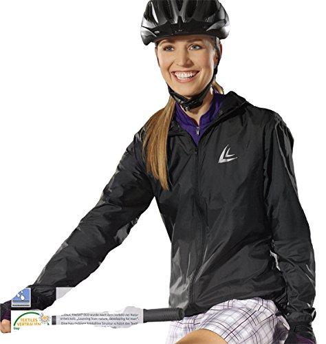 CRIVIT® Damen Fahrradjacke mit Kapuze, ultraleicht, Gr. M (40/42), schwarz