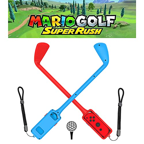 for Switch Games Mario Golf: Super Rush Joy Con Golf Clubs, 2 Pack Set.