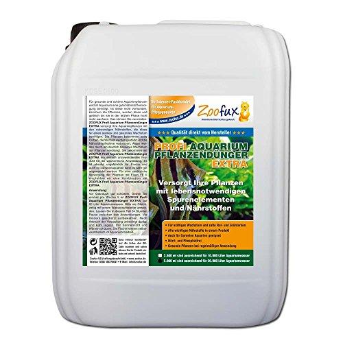 ZOOFUX Profi Aquarium Pflanzendünger EXTRA (GRATIS Lieferung in DE - Versorgt Pflanzen mit lebensnotwendigen Spurenelementen und Nährstoffen für EIN kräftiges Wachstum), Inhalt:5 Liter