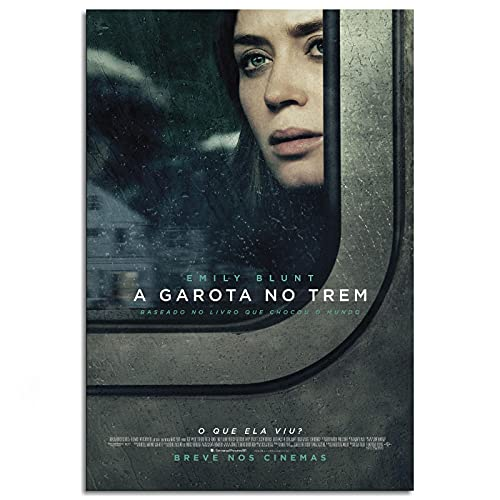 """The Girl On The Train Movie Poster Emily Blunt Canvas Prints Poster Wall Art For Home Office Decorations Unframed 18""""x12"""""""