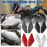 Lorababer Revestimientos de Paneles Laterales de Motocicleta Cubierta de Entrada de Aire Plástico ABS Tanque de Gas Tapa de Llenado de Aceite Carcasa para Honda CB650R 2019-2020, CB 650 R (Negro mate)