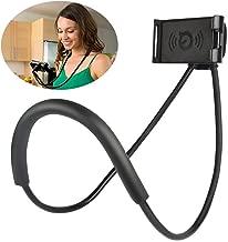 EKUZI Cell Phone Holder,Universal Lazy Mobile Phone Mount Stand,Adjustable 360° Free Rotating Gooseneck Mount with Multiple Function, 60 cm (Black)