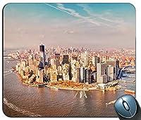 アメリカニューヨークマンハッタンマウスパッド、ゲーミング長方形マウスパッド