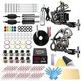 Wormhole Tattoo Kit Complete Tattoo Machine Kit for Beginners Tattoo Power Supply 2 Pro Tattoo Machine Kit 10 Tattoo Inks 30 Tattoo Needles Tattoo Supplies for Tattoo Artists TK089