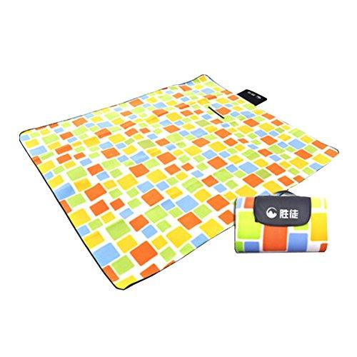 Plaid Style extérieur Plage Camping Pique-nique couverture de pique-nique tapis orange/jaune