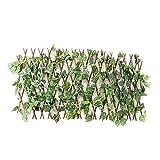 Baoblaze Celosia Extensible Hiedra Artificial Plantas Colgantes Hiedra Artificiales Jardín al Aire Libre Enrejado Expandible Hojas de Hiedra Artificial Valla Protección de Privacidad