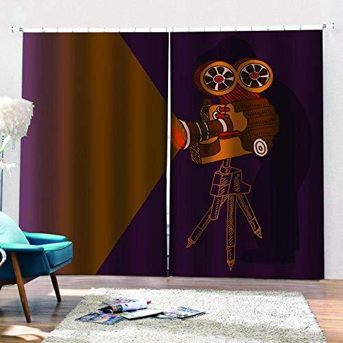 zpangg Verdunkelungsvorhang Kräuselband Beamer Mit Ösen Gardine Für Schlafzimmer, Kinderzimmer 2 Stück Verdunkelungsvorhänge Farbige Vorhänge 184×214Cm