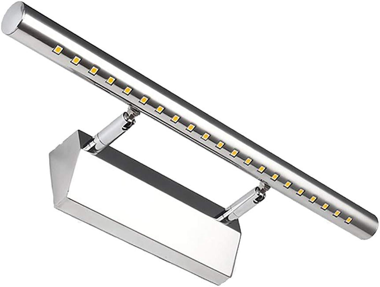 CCSUN 180 grad-drehung Led spiegelbeleuchtung, IP44 Wasserdicht Led spiegelleuchte badlampe Edelstahl Kabinett spiegel beleuchtung - 55cm(21.7 in)-4W weies Licht