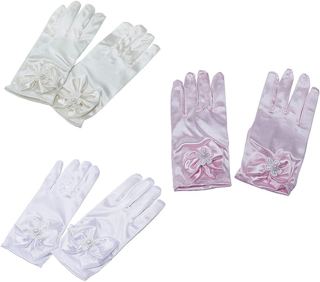 harayaa Princess Gloves Princess Dress Up Wedding Gloves with Bow