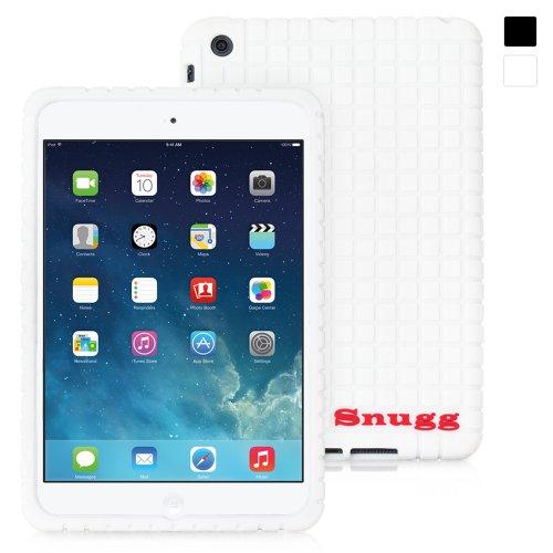 Snugg iPad Mini 1 and Mini 2 Case, White Silicone Case [Non-Slip Material] Protective Rubber Back Case Cover Apple iPad Mini 1 and Mini 2
