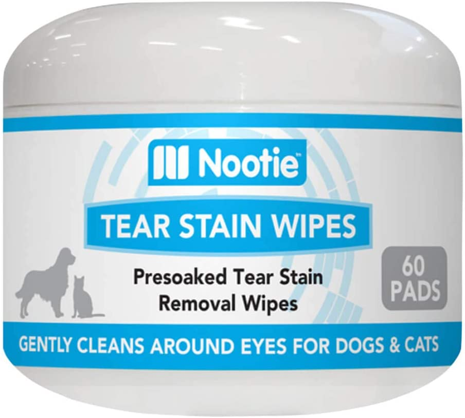 Nootie Tear Stain Wipes Rapid rise 60ct Dogs Max 42% OFF Cats for