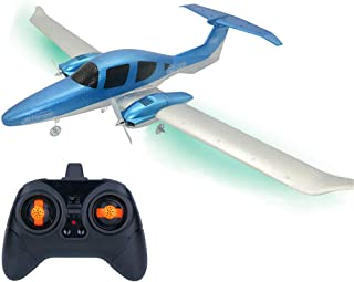 RC Airplane 3 Axis Gyro Wingspan Glider DIY Remote Control Airplane Easy to Install and Easy to Operate 2.4Ghz RC Aircraft with Light Bar Suitable for Night Flight (DIY RC Airplane)
