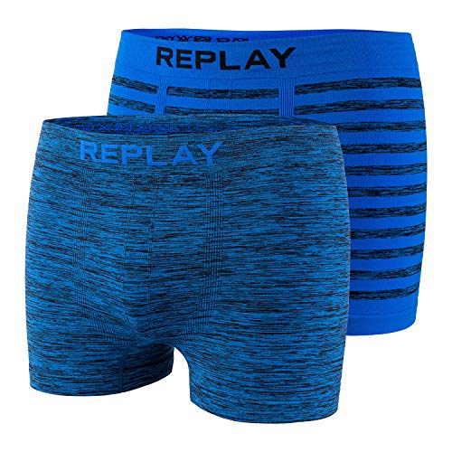 2-delige set boxershorts heren Replay katoen onderbroek nauwsluitend naadloos naadloos