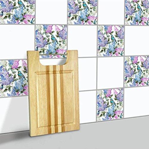 MINRAN DECOR BJ Art de tuiles Mural - Adhésif carrelage   Sticker Autocollant Carrelage - Mosaïque carrelage Mural Salle de Bain et Cuisine   - 20x20 cm - 10 pièces TS003