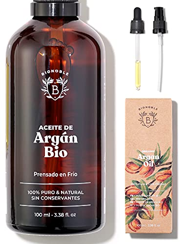 ACEITE DE ARGÁN ORGÁNICO | 100% Puro, Natural y Prensado en Frío |...