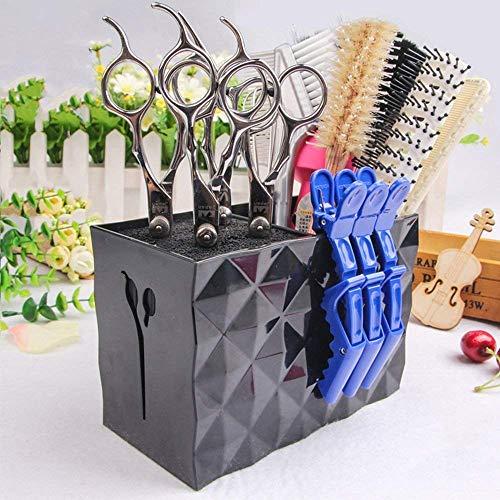 Ciseaux de coiffure professionnels Boîte de rangement en rack Barber Shop Coiffeur Styliste Boîte de rangement antidérapante de haute qualité,Noir,15.1x8x10.5cm
