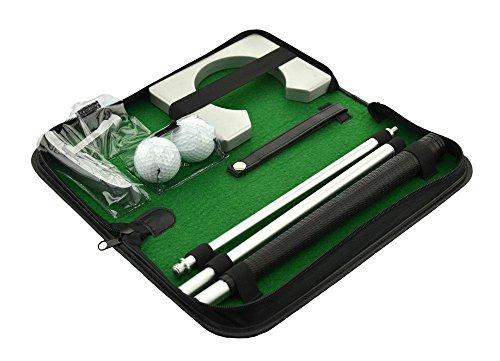 POSMA PG020 - Set da golf portatile con putter, 2 palline da golf e tazza da mettere per allenamento indoor e outdoor