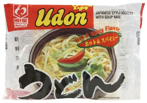 Myojo Udon Hot-Spicy with Soup, 7.22-Ounce (Pack of 30)