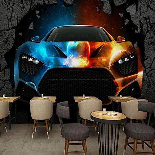 HUATULAI behang wallpaper fotobehang cool sport auto wandschilderij restaurant café bar creatieve persoonlijkheid achtergrond papier behang 430*300cm/W*h