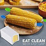 Corn Holders & Butter Spreader Set - 8 Pairs of Comfortable Stainless Steel Jumbo Corn cob Holders & Convenient Butter…