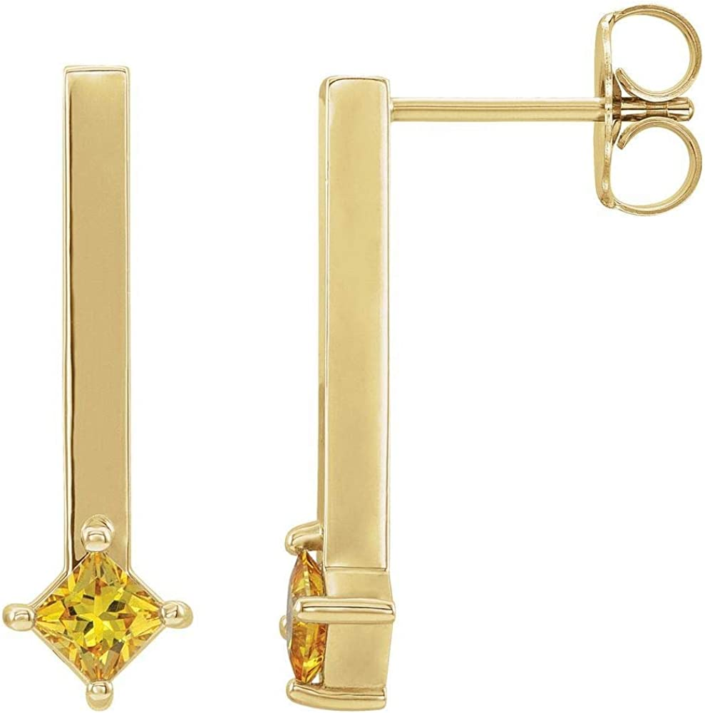 Bar Drop Earrings (19mm x 5.7mm)