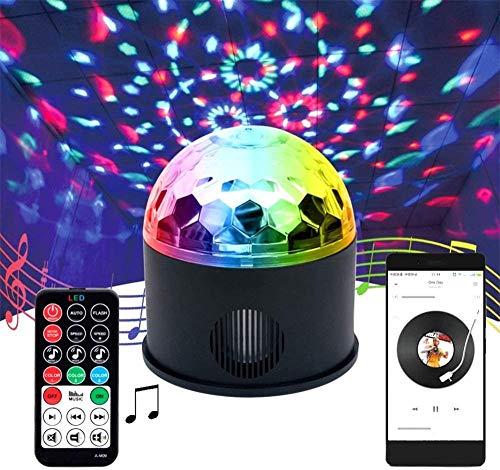 Nieuwe Led Negen Kleuren Afstandsbediening Crystal Magic Ball Light Ballroom Jump Di Flash Draaien Verjaardag Bluetooth Speaker